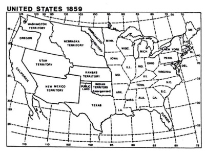 The United States Of America On The Other Side Of The - Us in 1800 black and white map
