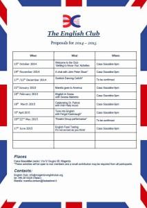 2014 - 2015 Programme