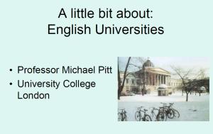 image english universities